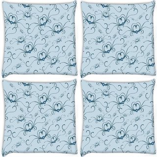 Snoogg Pack Of 4 Abstract Pattern Digitally Printed Cushion Cover Pillow 10 x 10 Inch