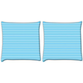 Snoogg Pack Of 2 Airplane Lines Vector Digitally Printed Cushion Cover Pillow 10 x 10 Inch