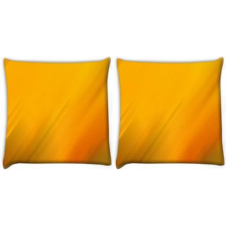 Snoogg Pack Of 2 Popcorn Digitally Printed Cushion Cover Pillow 10 x 10 Inch