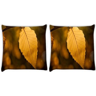 Snoogg Pack Of 2 Roots Of Tress Digitally Printed Cushion Cover Pillow 10 x 10 Inch
