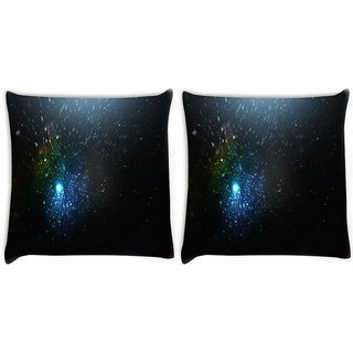 Snoogg Pack Of 2 Abstract Grey Dots Digitally Printed Cushion Cover Pillow 10 x 10 Inch
