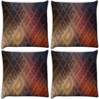 Snoogg Pack Of 4 Design Digitally Printed Cushion Cover Pillow 10 x 10 Inch