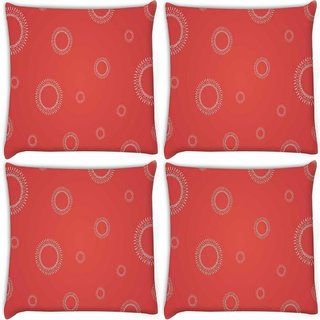 Snoogg Pack Of 4 Abstract Pattern Design Digitally Printed Cushion Cover Pillow 10 x 10 Inch