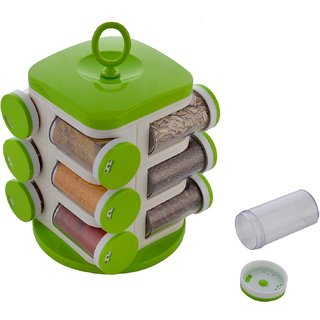 12-Jar Revolving Spice Rack OceanGate Multi Color