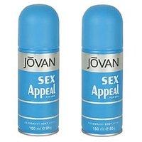Jovan Sex Appeal Deodorant Combo Of 2 Pcs. For Men 150 Ml