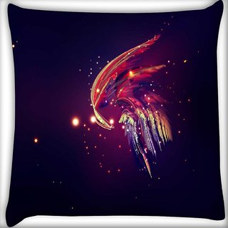 Snoogg ET fly Digitally Printed Cushion Cover Pillow 12 x 12 Inch