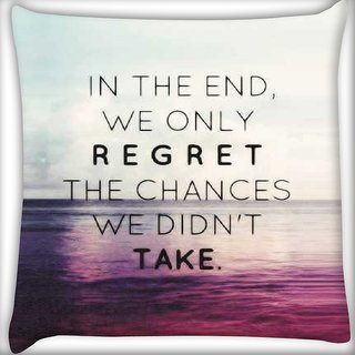 Snoogg Take chances Digitally Printed Cushion Cover Pillow 12 x 12 Inch