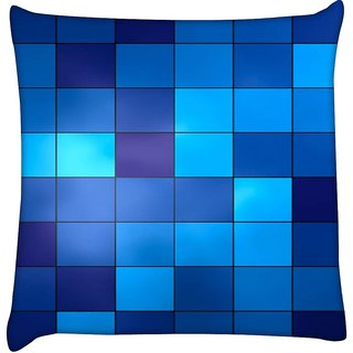 Snoogg  Digital Squares Digitally Printed Cushion Cover Pillow 12 x 12 Inch