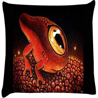 Snoogg one eyed sea creatur 2674  Digitally Printed Cushion Cover Pillow 12 x 12 Inch