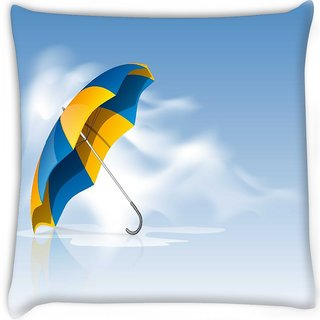 Snoogg  abstract rainy season background Digitally Printed Cushion Cover Pillow 12 x 12 Inch