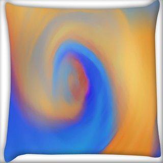 Snoogg Blue Smoke Digitally Printed Cushion Cover Pillow 12 x 12 Inch