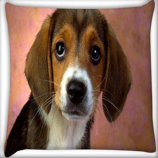Snoogg Cute Puppy Digitally Printed Cushion Cover Pillow 12 x 12 Inch
