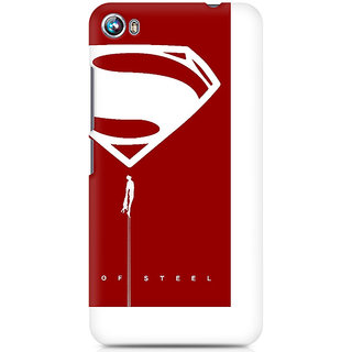 CopyCatz Man Of Steel Premium Printed Case For Micromax Canvas Fire 4 A107