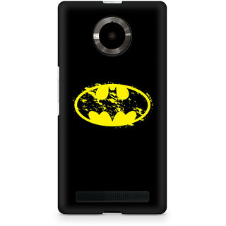 CopyCatz Flourished Yellow Batman Premium Printed Case For Micromax YU Yuphoria