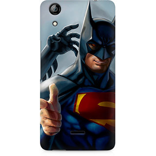 CopyCatz Superman With Batman Mask Premium Printed Case For Micromax Canvas Selfie 2 Q340