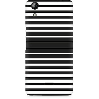CopyCatz Black And White Stripes Premium Printed Case For Micromax Canvas Selfie 2 Q340