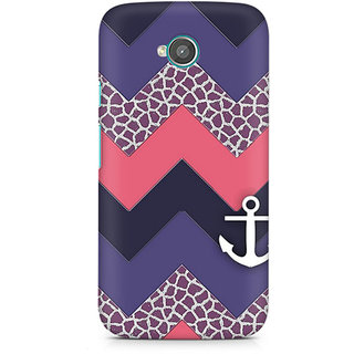 CopyCatz Chevron Anchored Premium Printed Case For Moto E2