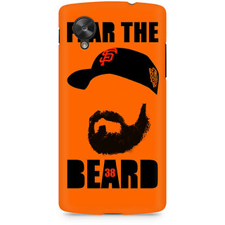 CopyCatz Fear The Beard Bud Premium Printed Case For LG Nexus 5