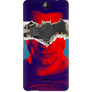 CopyCatz Superman With Batman Logo Premium Printed Case For Micromax Canvas Juice 3 Q392