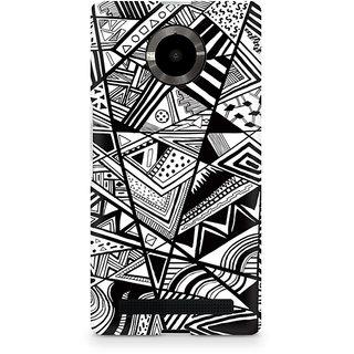 CopyCatz Black And White Abstrct Premium Printed Case For Micromax YU Yuphoria
