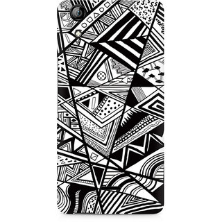 CopyCatz Black And White Abstrct Premium Printed Case For Micromax Canvas Selfie 2 Q340