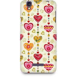 CopyCatz Hearts Premium Printed Case For Micromax YU Yureka A05510