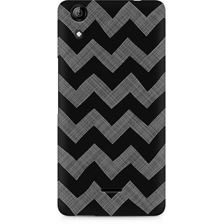 CopyCatz Cheveron Shades Of Grey Premium Printed Case For Micromax Canvas Selfie 2 Q340
