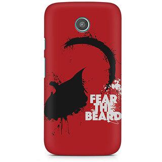 CopyCatz Fear The Beard Premium Printed Case For Moto E