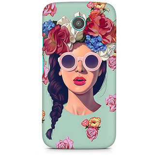 CopyCatz Floral Girl Premium Printed Case For Moto E