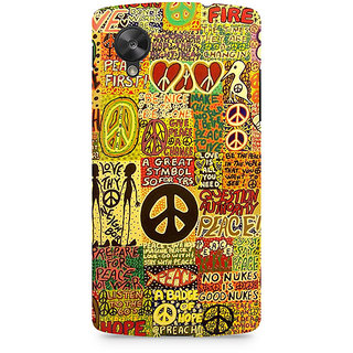 CopyCatz Hippy Peace Premium Printed Case For LG Nexus 5