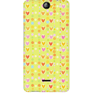 CopyCatz Cute Colorful Hearts Premium Printed Case For Micromax Canvas Juice 3 Q392