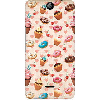 CopyCatz Heart And Cakes Premium Printed Case For Micromax Canvas Juice 3 Q392