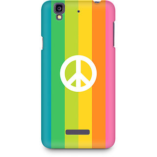 CopyCatz Colorful Peace Premium Printed Case For Micromax YU Yureka A05510