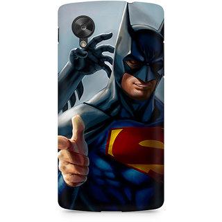 CopyCatz Superman With Batman Mask Premium Printed Case For LG Nexus 5