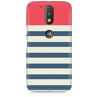 CopyCatz Stripes Pink Premium Printed Case For Moto G4/G4 Plus