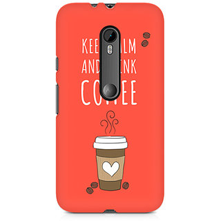 CopyCatz Keep Calm And Have Cofee Premium Printed Case For Moto G3