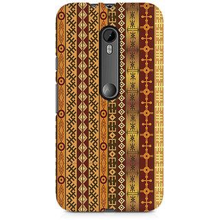 CopyCatz Orange Tribal Strips Premium Printed Case For Moto G3