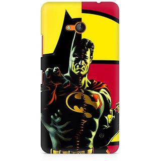 CopyCatz Batman Within Superman Premium Printed Case For Nokia Lumia 640