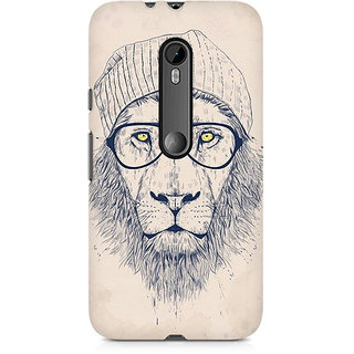 CopyCatz Lion With Glasses Premium Printed Case For Moto X Force