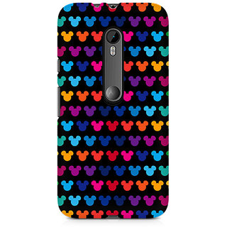 CopyCatz Mickie Mulitcolor On Black Premium Printed Case For Moto X Force