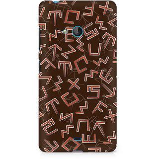 CopyCatz Tribal Alphabets Premium Printed Case For Nokia Lumia 540