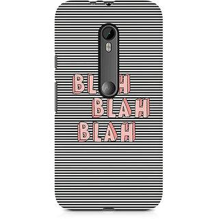CopyCatz Blah Blah Classy Premium Printed Case For Moto X Play