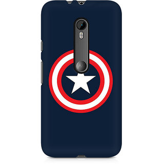 CopyCatz Captain America Logo Premium Printed Case For Moto X Play