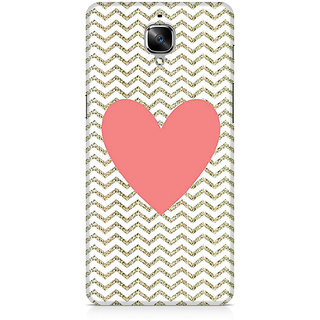 CopyCatz Chevron Heart Premium Printed Case For OnePlus Three