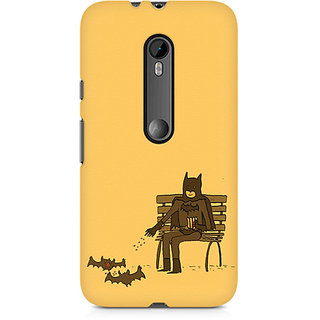 CopyCatz Minimalist Batman Feeding Bats Premium Printed Case For Moto X Force