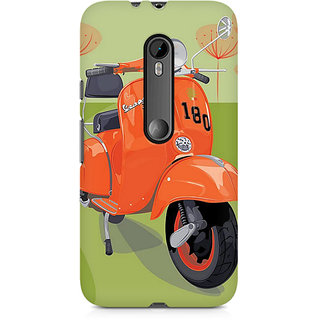 CopyCatz Orange Vespa Premium Printed Case For Moto X Force