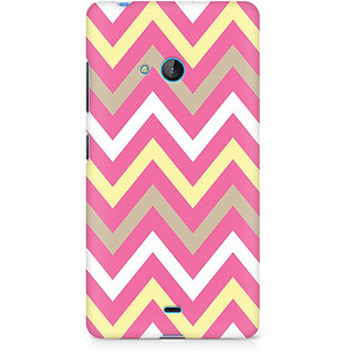 CopyCatz Yellow And Pink Broad Chevron Premium Printed Case For Nokia Lumia 540