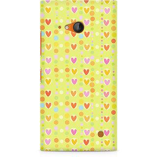 CopyCatz Cute Colorful Hearts Premium Printed Case For Nokia Lumia 730