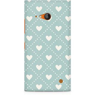 CopyCatz Heart Vintage Premium Printed Case For Nokia Lumia 730