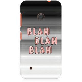 CopyCatz Blah Blah Classy Premium Printed Case For Nokia Lumia 530